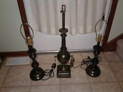 Vintage Stiffel Lamps Lot set of 3 stifel table urn collectible collection rare $99.99