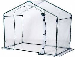 Outsunny 6' x 3.5' x 5' Outdoor Portable Walk-In Greenhouse with Clear PVC Cover