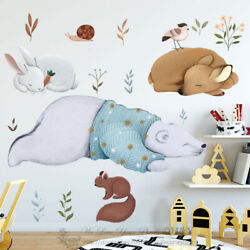 Animals Habination Wall Stickers Nursery Kids Decor Mural Removable Decal Gift AU $28.79