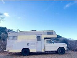 1970 Ford 350 Truck with Full Callen Camper Home Mobile RV Motorhome
