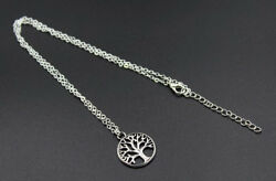Tree Of Life Necklace Silver Girl's Women's