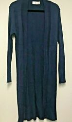 Time and Tru Women's Pointelle Ribbed Duster Cardigan choose size and color CA