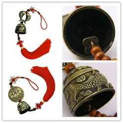Oriental Pixiu Pattern Metal Bell Lucky Feng Shui Hanging Charm Wind Chime