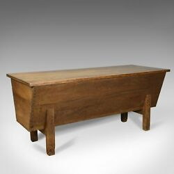 Antique Boulangerie Dough Bin Large French Elm Chest Circa 1800
