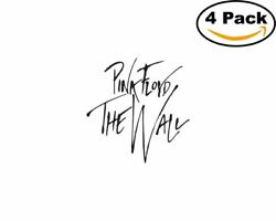 pink floyd the wall 4 Stickers 4x4 Inches Sticker Decal $6.50
