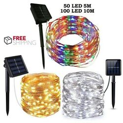 Outdoor Solar String Lights LED Waterproof Copper Wire Xmas Garden Party Decor $10.99