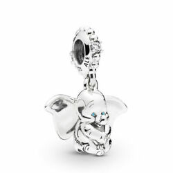 Authentic Pandora Charms 925 ALE Sterling Silver CZ Dumbo Bracelet Bead Charm