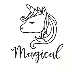 Magical Unicorn Vinyl Decal Sticker - Various Colours & Sizes Available $2.62