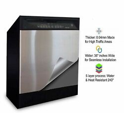 Peel and Stick Vinyl Satin Brushed Stainless Dishwasher Cover As Seen On TV