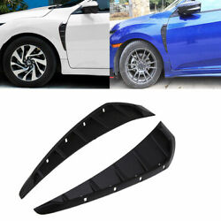Car Hood Side Fender Vent ABS Air Flow Cover Decoration Sticker For Honda Civic