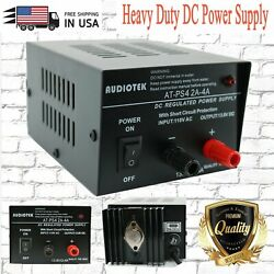 AT PS4 13.8V 4A Amp Heavy Duty DC Regulated Power Supply Grade with Cable New $36.99