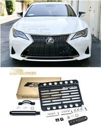 EOS Plate For 19-Up Lexus RC Tow Hook License Plate Mount With Lowering Bracket