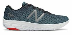 New Balance Men's Fresh Foam Beacon Shoes Blue With Red & White