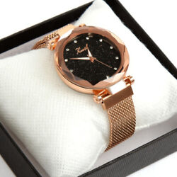 Luxury Starry Sky Masonry Watch Magnet Strap Buckle Stainless Watch Wome