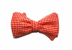 Checkers bow tie Adjustable country red self tie bowtie $7.50