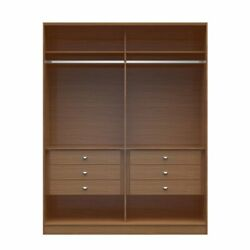 Chelsea 2.0 - 70.07 inch Wide HeShe Wardrobe with 6 Drawers in Maple Cream
