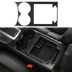 Real Carbon Fiber Water Cup Holder Trim Cover Sticker For Porsche Macan 2015-18