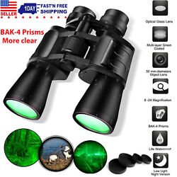 180x100 Zoom Low Night Vision Outdoor Travel Binoculars Hunting Telescope + Case $29.99