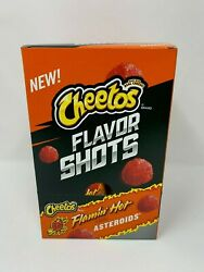 Cheetos Flavor Shots Flamin Hot Asteroids 6 Pack Free Shipping FRESH Oct 22 EXP