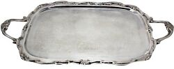 Georgetown FB Rogers Silver Plated Footed Handle Ornate Butler Serving 23