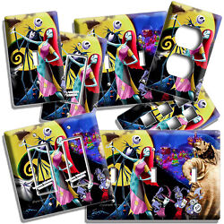 NIGHTMARE BEFORE CHRISTMAS JACK AND SALLY LIGHT SWITCH OUTLET PLATES ROOM DECOR $9.99