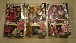 Lot 3 Monster High First Day of School Dolls Ari Cleo De Nile Clawdeen Daughter