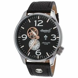 Ingersoll 1003Bk Men#x27;s Teton Auto Ltd Ed Black Genuine Leather And Dial Watch $99.99