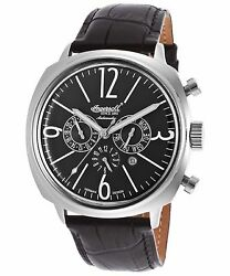 Ingersoll 2818BK Men#x27;s Cooper Auto Limited Black Leather Black Dial Watch $109.99