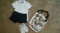 Lot womens clothes s m 5 6 beach summer 10 pieces AE Billibong Hurley Levis $35.00