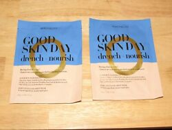 2 Peach & Lily Good Skin Day Drench + Nourish Silky Cellulose Sheet Mask SEALED