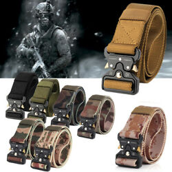 Men Nylon Military Belt Tactical Army Hunting Outdoor Training Belt Father's Day