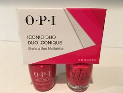 OPI Iconic Duo GelColor & Nail lacquer- She's a Bad Muffaletta- *FREE SHIPPING*