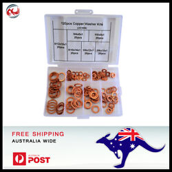 120 piece 6 Sizes Solid Copper Washers Sump Plug Assorted Washer Kit.  $15.32