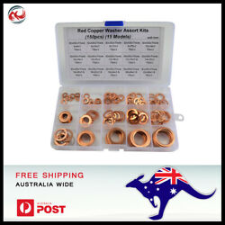 150 PCS 15 Sizes Solid Copper Washers Sump Plug Assorted Washer Kit.  $20.19