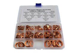 280 PCS 12 Sizes Solid Copper Washers Sump Plug Assorted Washer Kit  $27.15