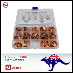 280 PCS 12 Sizes Solid Copper Washers Sump Plug Assorted Washer Kit.  $27.15