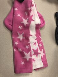 Red Lion Pair amp; a Spare Star Socks Pink White Sock Size 9 11 Knee NWT $10.00