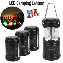 Portable USB Solar LED Camping Rechargeable Lantern Camping Hiking Bright Lamp $14.59