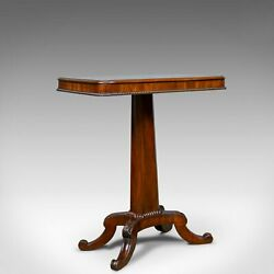 Antique Wine Table English William IV Flame Mahogany Side Circa 1835