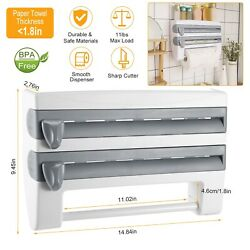 Kitchen Wall Mounted Paper Towel Holder Cling Film Tinfoil Triple Roll Dispenser $19.99