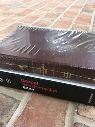 RARE Out of Print ESV Gospel Transformation Bible Genuine Leather RTL $89.99