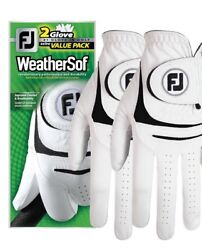 New FootJoy WeatherSof 2 Pack Golf Gloves Value Pack Select Size $17.99