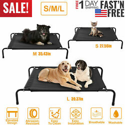 Elevated Dog Bed Lounger Sleep Pet Cat Raised Cot Hammock for Indoor Outdoor US $35.99