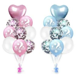 He or She Gender Reveal Latex Party Balloons Baby Girl Boy Shower DIY Decor US
