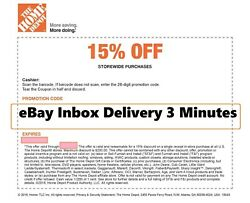 ONE~1X-Home Depot 15% OFF Coupon Save up to $200-Instore ONLY-FAST--SENT_--