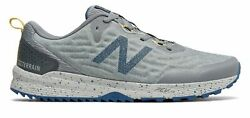 New Balance Men's NITREL v3 Trail Shoes Grey with Blue $34.99