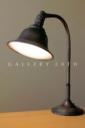 WOW! JEWELERS DESK LAMP! OC FARIES EDON! BRONZE BLUE GLASS VTG 20S AFTER TIFFANY