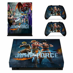 XBOX ONE X Skin Sticker Decal Cover JUMP FORCE DRAGON BALL NARUTO ONE PIECE