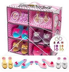 Shoes and Jewelry dress up – Little Girl Princess Play Gift Set with toy jewelry