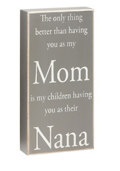 Mom amp; Nana Gray Wood Sign Perfect Mother#x27;s Day Gift Rustic Country Primitive $12.99